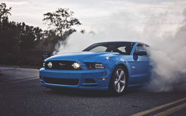 Обои Ford Mustang GT 5.0 Blue