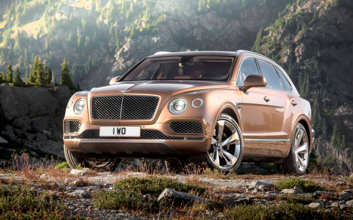 HD Обои Bentley Bentayga коричневый