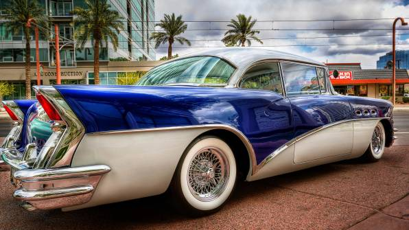 HD Wallpaper Buick 58 Special на улице Майями