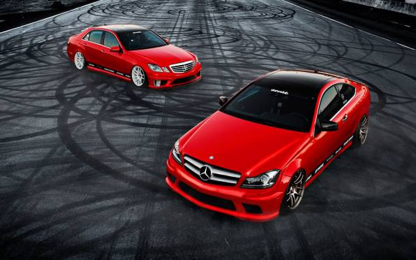 HD Wallpaper Mercedes E350 C350 tuning