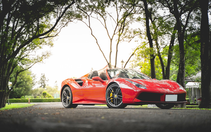 Wallpaper of Ferrari, Ferrari 488 Spider, Red, Car, SportCar background & HD image