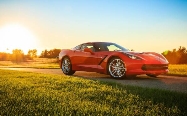 HD Wallpaper Chevrolet Corvette, Stingray, солнце, природа