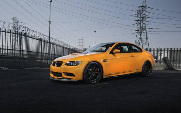 HD Wallpaper bmw m3 e92 orange