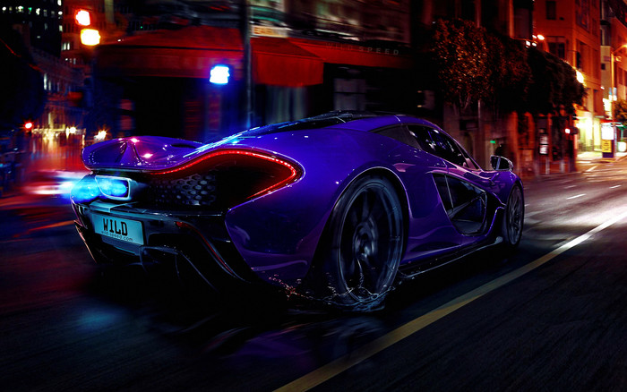 HD Wallpaper Blue. McLaren P1, SportCar