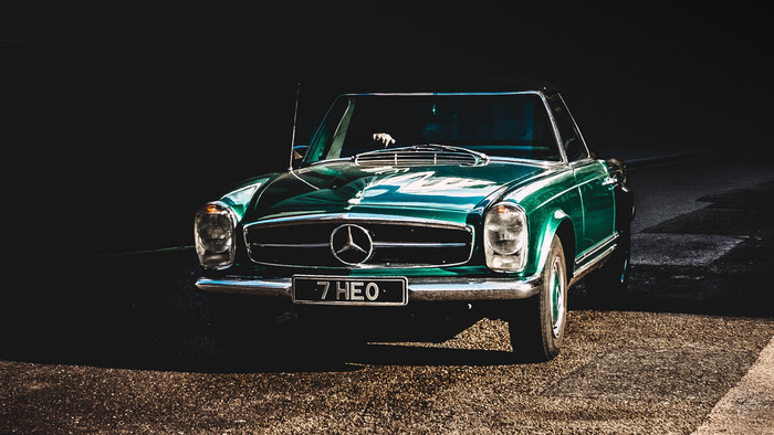 HD Wallpaper Auto, Retro, Front view, Mercedes