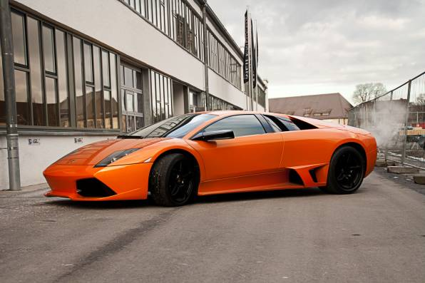 Wallpaper Of Lamborghini Murcielago Orange Lp640 Background Hd Image