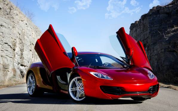 HD Обои Mclaren mp4-12c red supercar