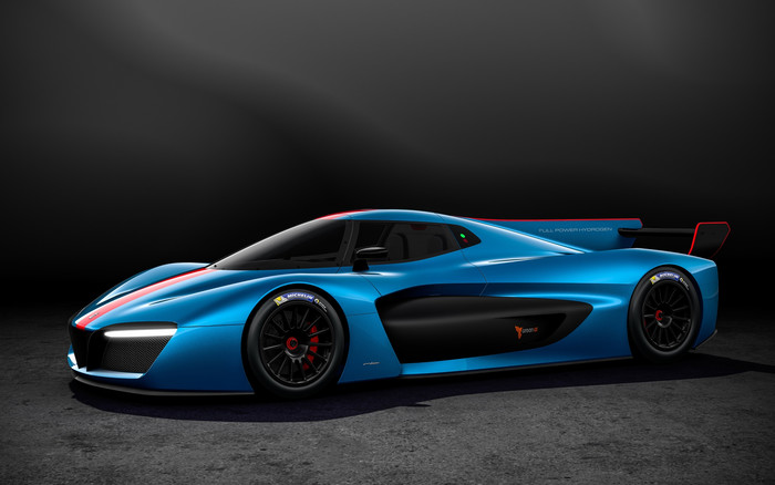 Wallpaper of Blue Car, Car, Pininfarina, Pininfarina H2 Speed background & HD image