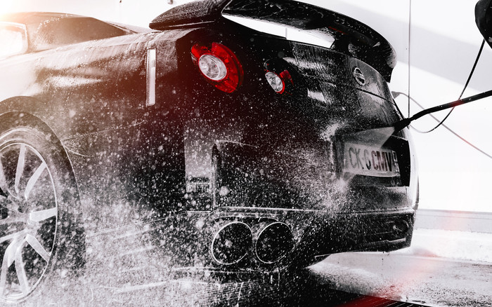 HD Wallpaper NISSAN R35 GT-R, Washing, Car, Spray