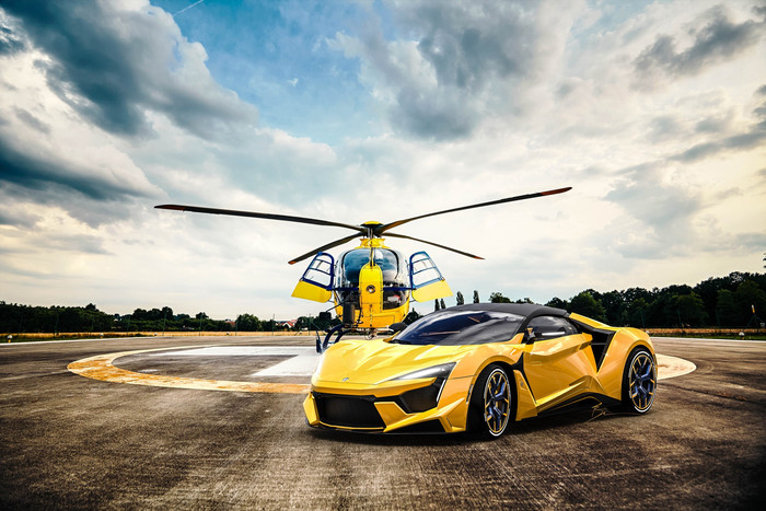 HD Wallpaper of Fenyr, SuperSport, Vehicle, Yellow