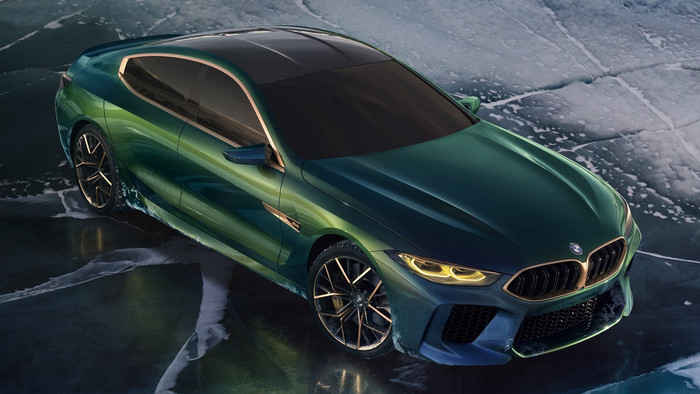HD Wallpaper of BMW-M8-Gran-Coupe, Concept, Green Luxury-Car