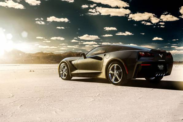HD Wallpaper Chevrolet Corvette Stingray c7 посреди пустыни