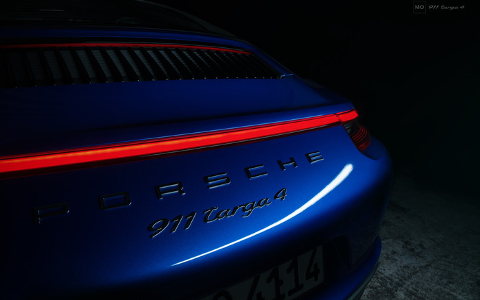 HD Wallpaper of Vehicles, Porsche 911 Turbo, Blue, Car
