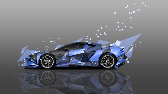HD Wallpaper digital art, Lamborghini Asterion