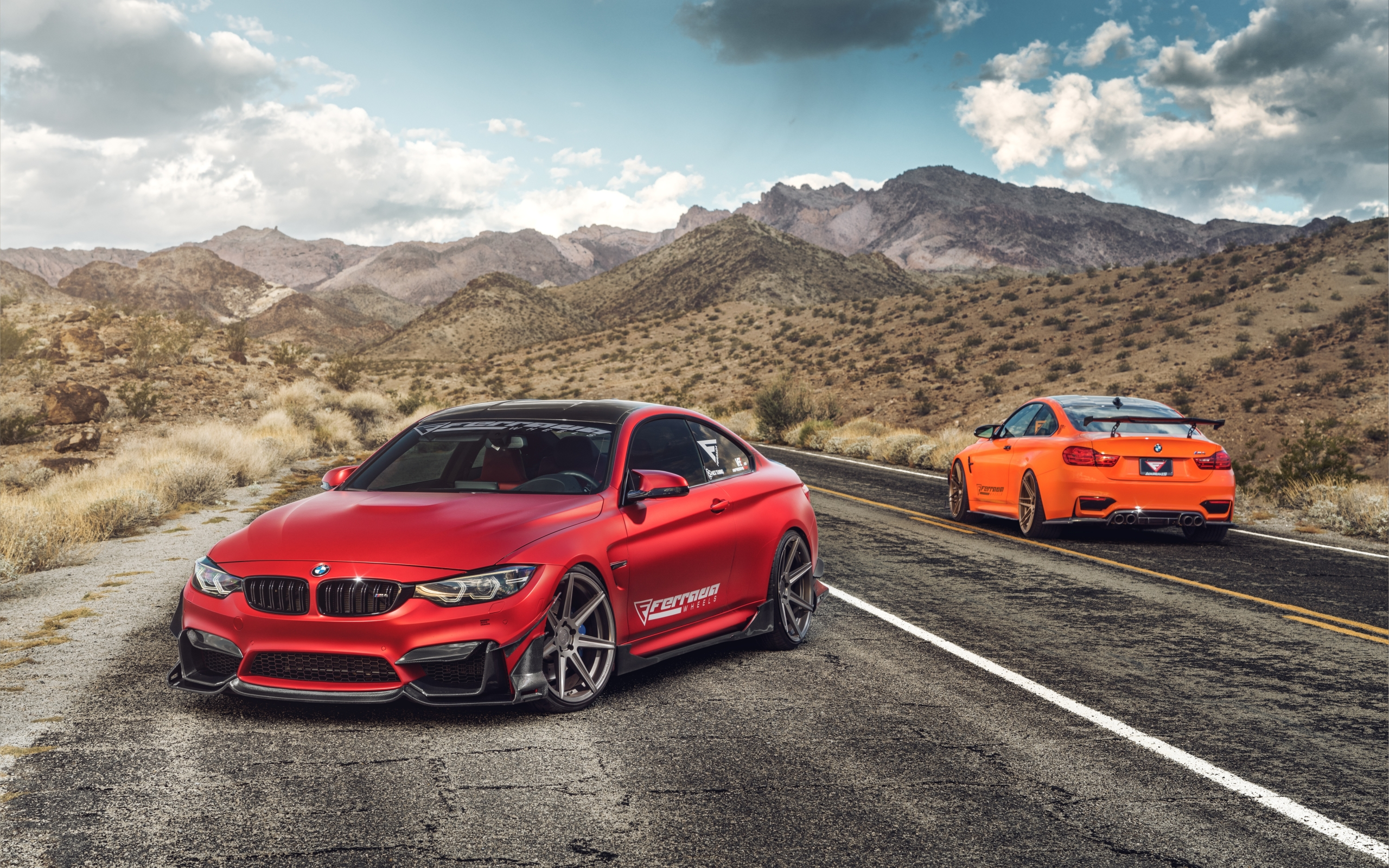 Wallpaper Of Bmw M4 Orange Car Red Sport Car Background