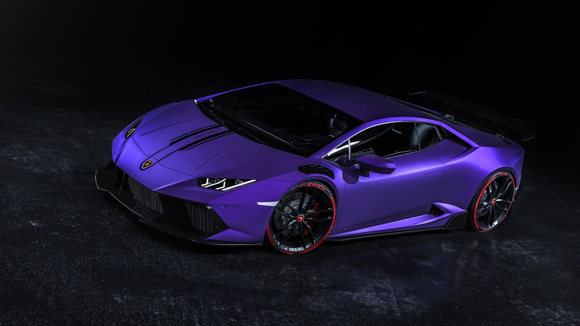 Wallpaper Of Car Lamborghini Huracan Purple Sportcar Background