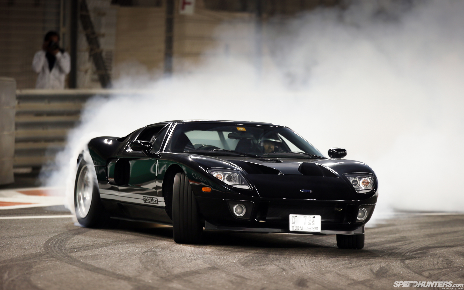 Ford Gt Vehicles Car Black Drift Wallpaper Ubackground Com