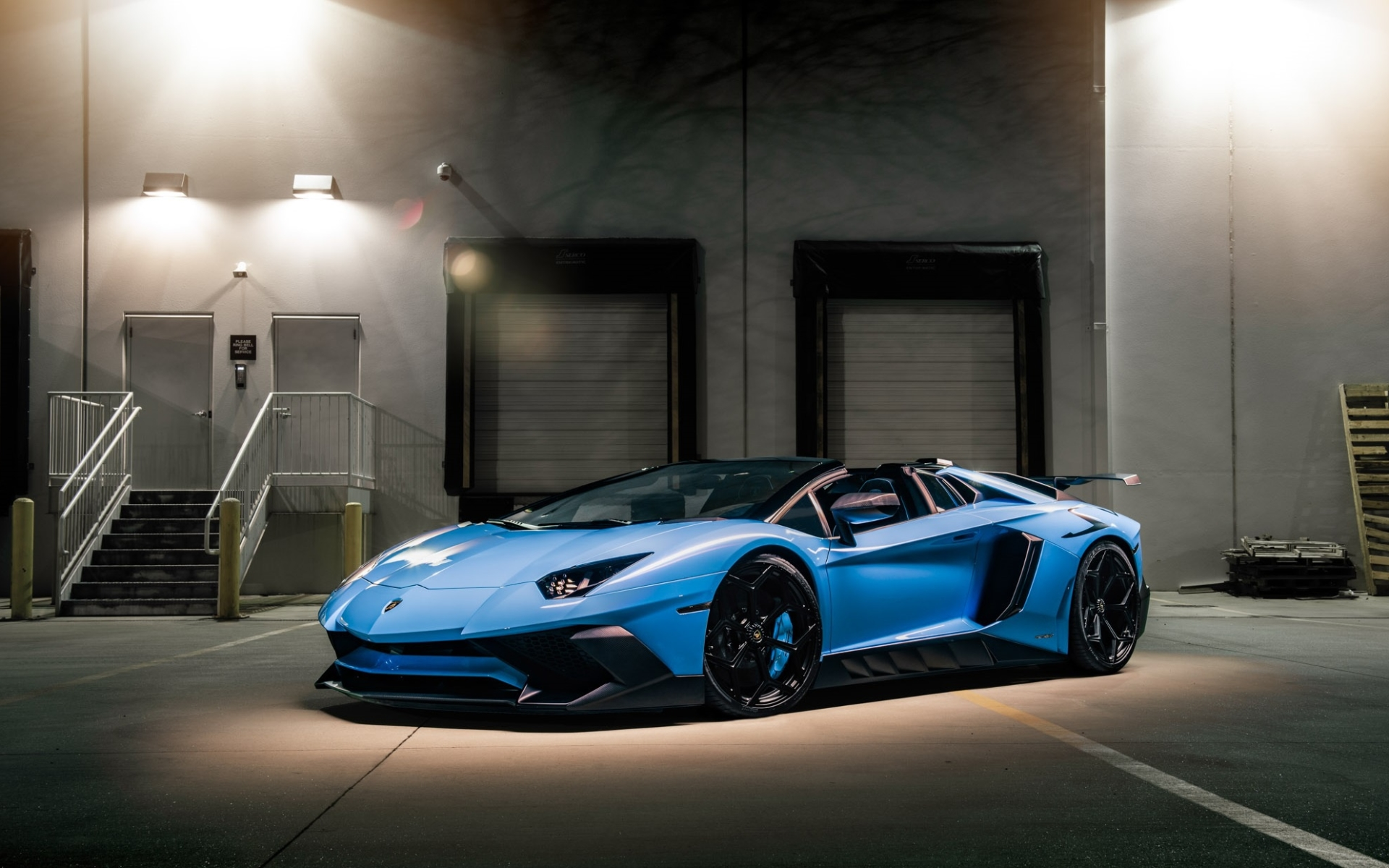 Wallpaper Of Blue Car Lamborghini Aventador Background Hd Image