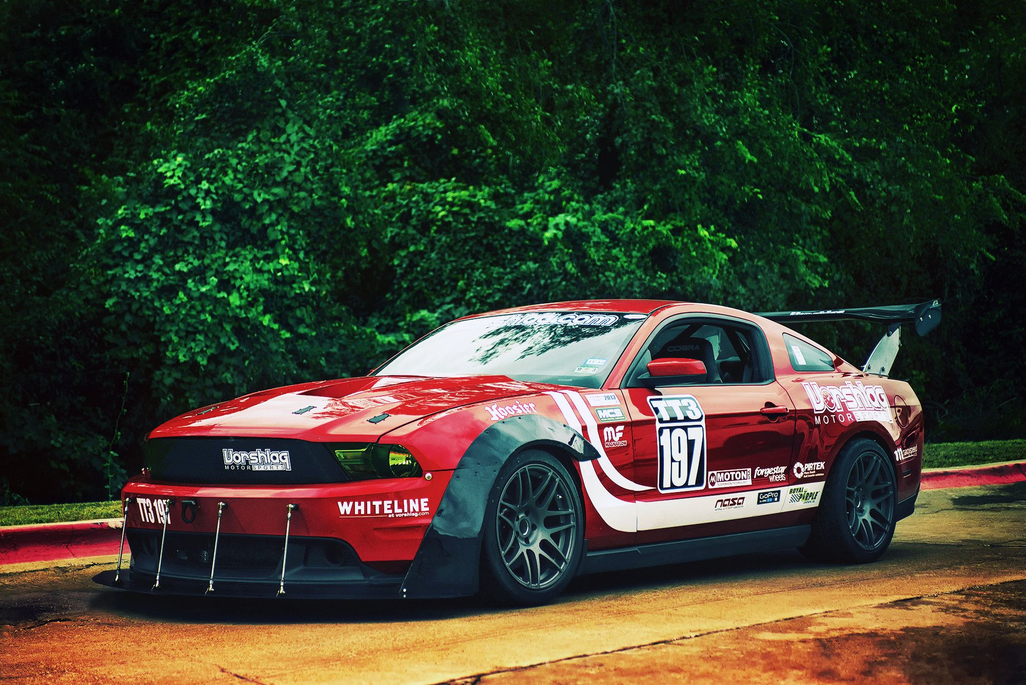 Wallpaper Ford Mustang Gt Red Race Car Desktop Picture Hd Photo