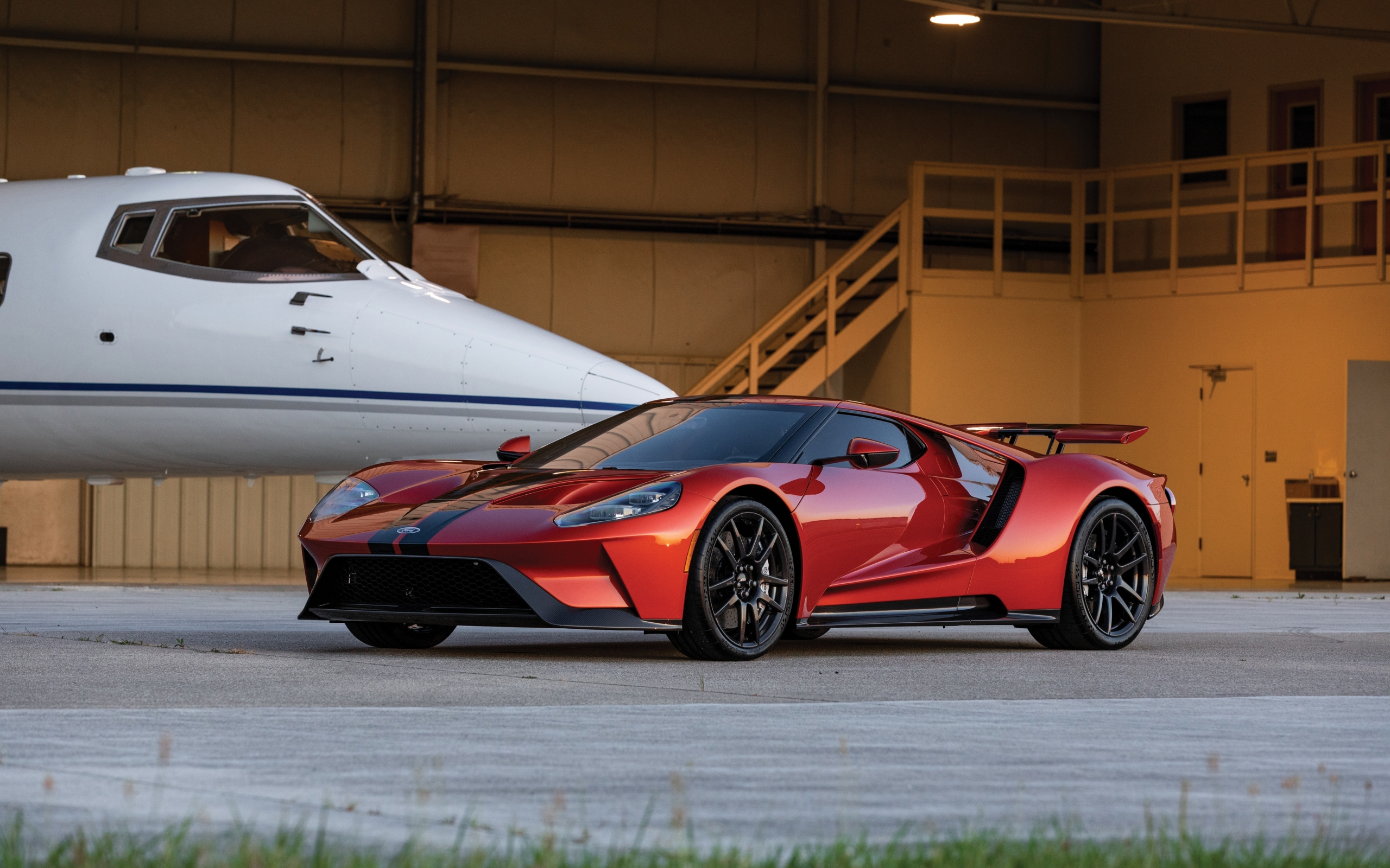 Wallpaper Of Car Ford Ford Gt Red Sport Car Supercar