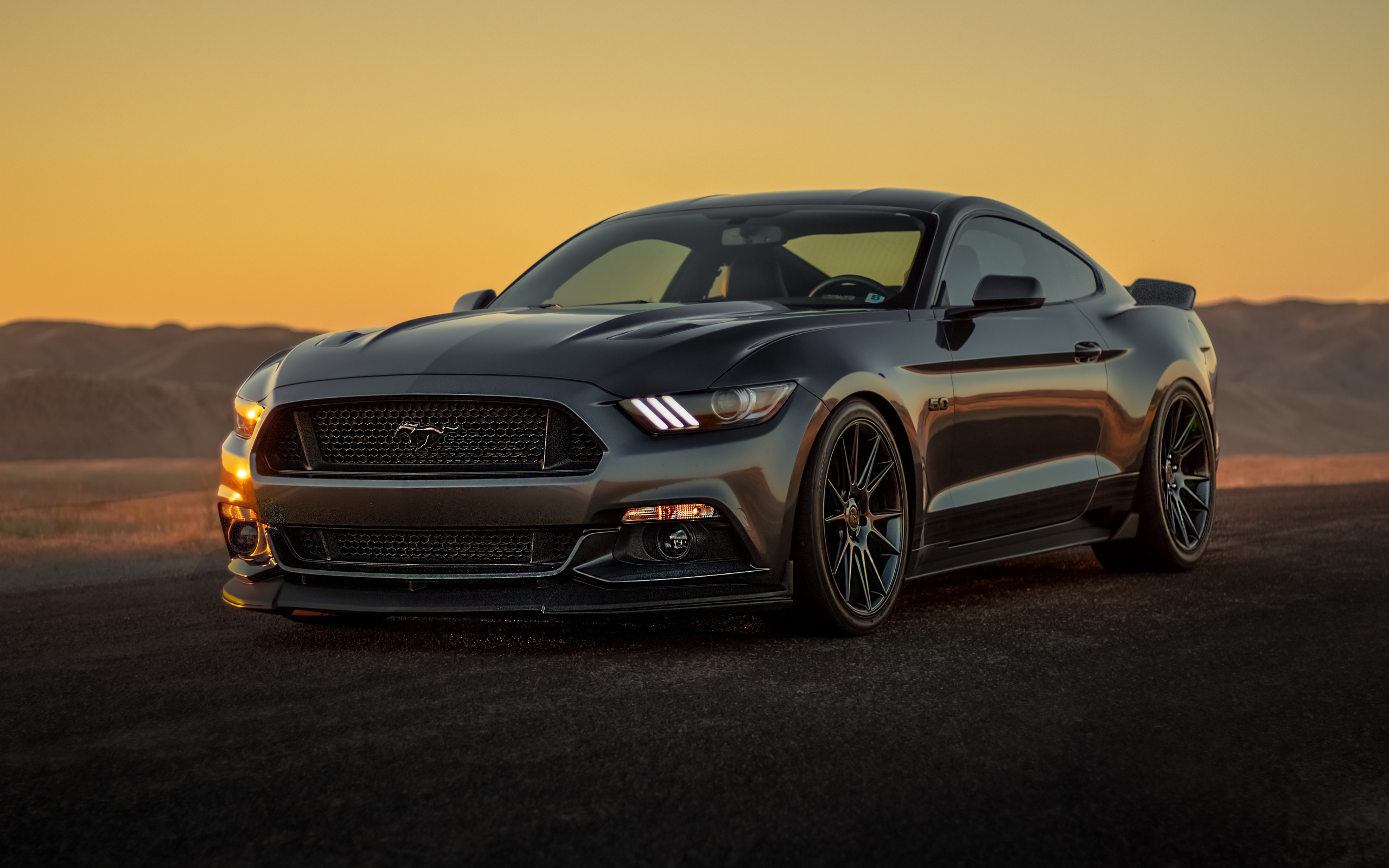Wallpaper Of Ford Mustang Car Black Muscle Car Background
