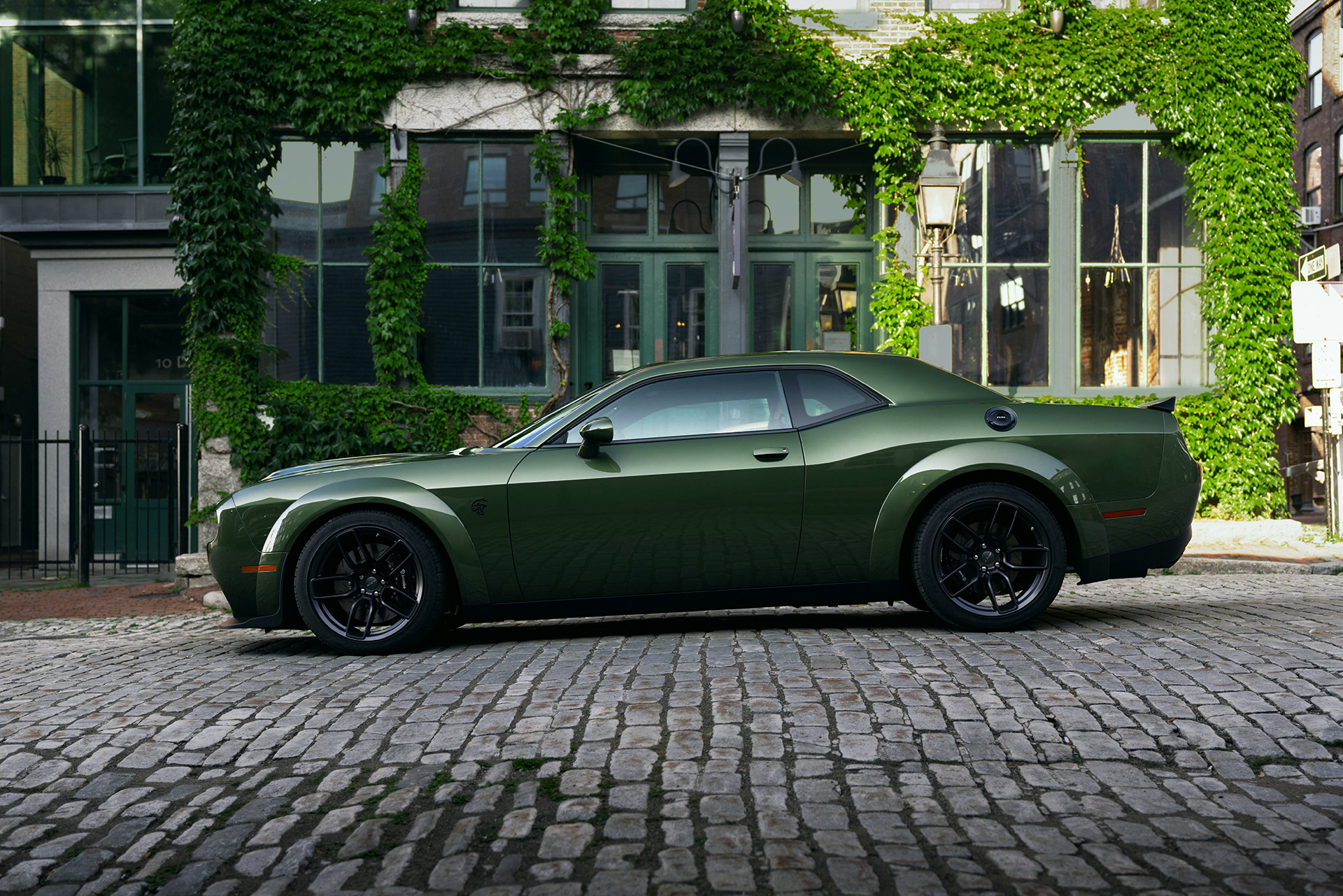 HD Wallpaper Dodge Challenger SRT Hellcat Green Car
