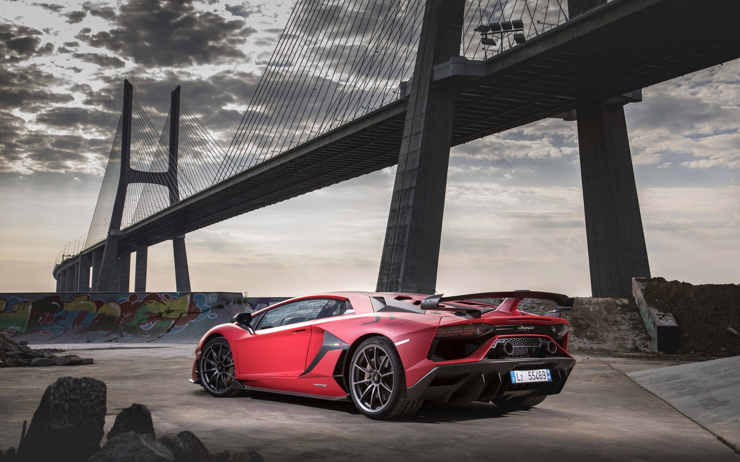 Wallpaper Of Lamborghini Aventador Svj Red Car Sportcar Background Hd Image