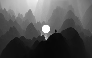 Preview wallpaper of Mountains, Dark, Artwork