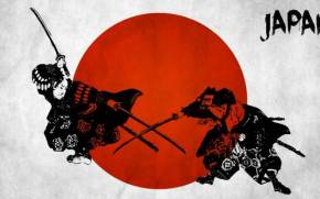 Preview wallpaper of japanese wall decals, red, samurai
