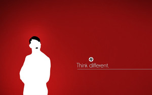 Preview wallpaper of Minimalism, Text, Adolf Hitler, Red