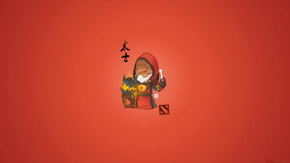 HD Wallpaper warlock, dota 2, chibi