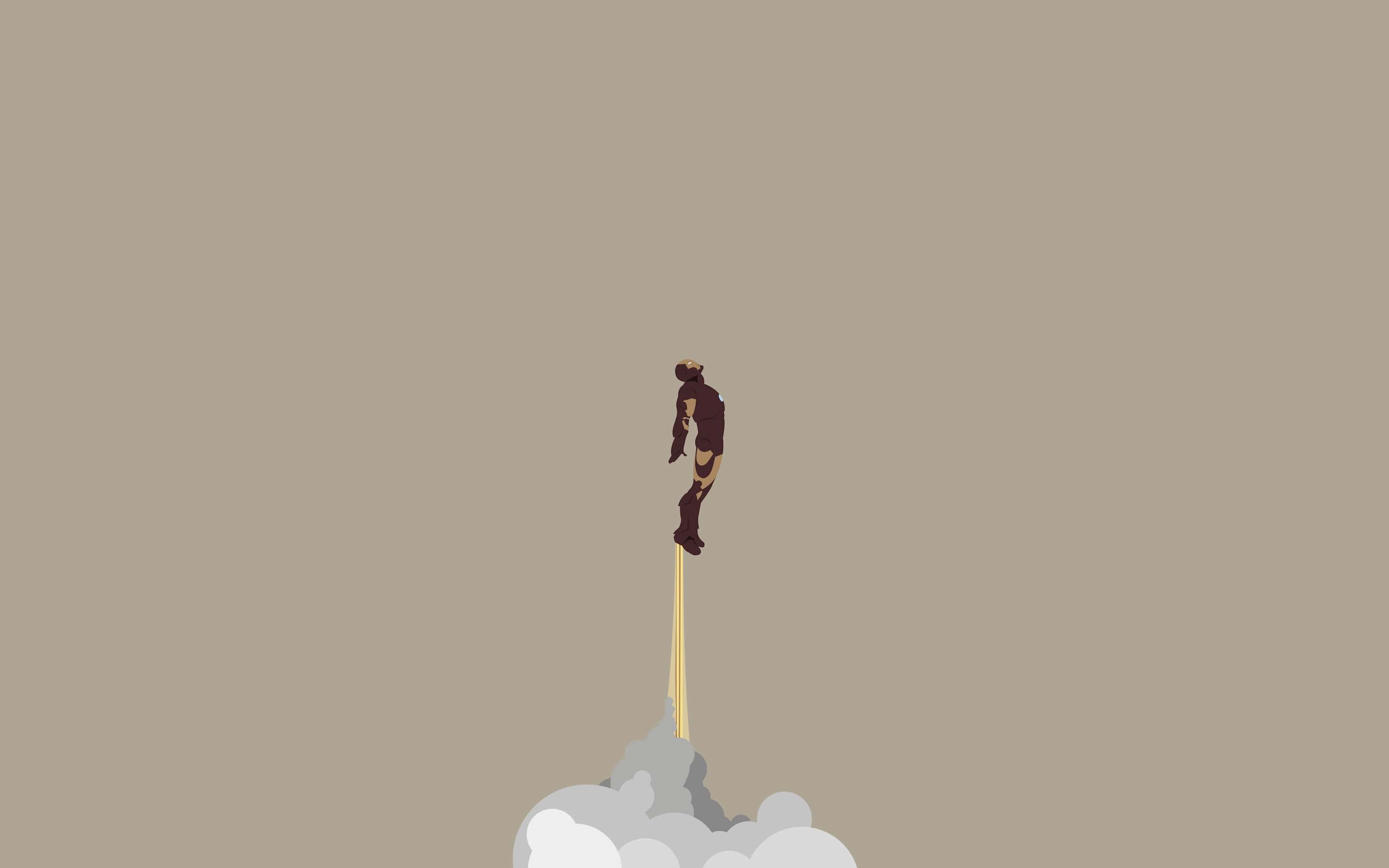 Wallpaper Iron Man Marvel Minimalism Desktop Picture Hd Photo