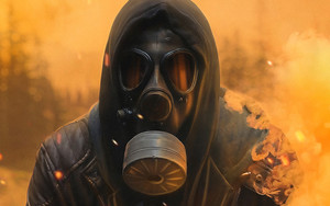Preview wallpaper of Dark, Gas Mask, Smoke