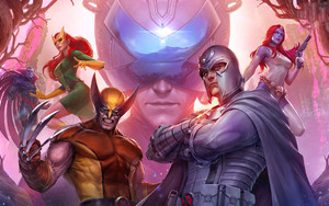 Preview wallpaper Marvel Comics, Future Fight, Mystique, Wolverine