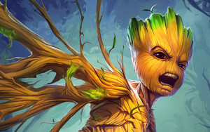Preview wallpaper of Baby Groot, Guardians of the Galaxy, Marvel Comics