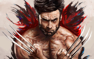 Preview wallpaper Hugh Jackman, Marvel Comics, The Wolverine