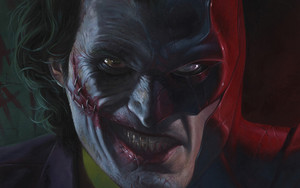 Preview wallpaper Art, Batman, DC, Comics, Joker