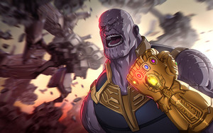 Preview wallpaper of Marvel, Comics, Thanos