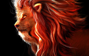 Preview wallpaper of Art, Animal, Lion