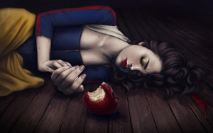 Preview wallpaper  <b>Art</b>, Snow White, Apple, Princess