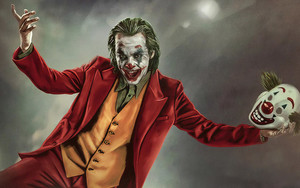 Preview wallpaper Joker, Mask, Movie, DC, Art