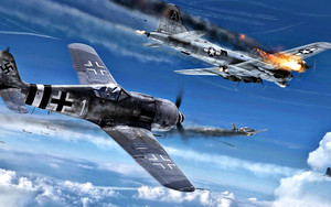 Preview wallpaper Aircraft, Boeing B-17 Flying Fortress, Focke-Wulf