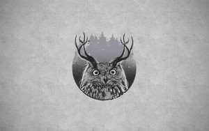 Preview wallpaper of Animal, Forest, Horns, Owl