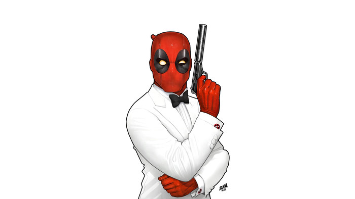 HD Wallpaper Deadpool, Marvel Comics, Art, Smoking, Parody, 007