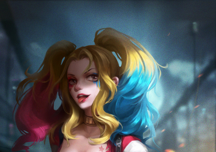 Wallpaper of Blonde, DC Comics, Harley Quinn, Twintails background & HD image
