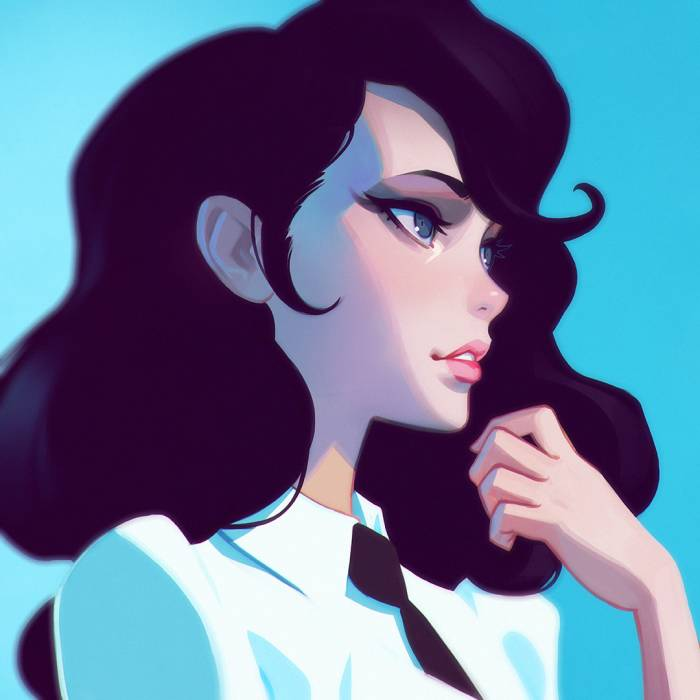 HD Wallpaper Blues, Kuvshinov-Ilya