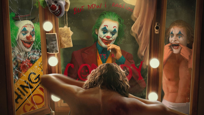 Wallpaper of Clown, DC, Comics, Joker, Mirror, Smile background & HD image
