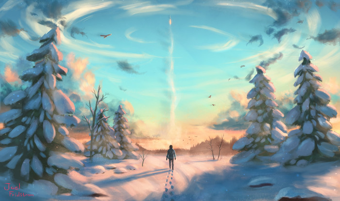 HD Wallpaper Digital Art, Winter, Human, Hope
