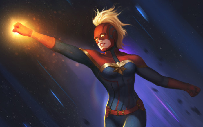 Wallpaper of Blonde, Captain Marvel, Marvel Comics background & HD image