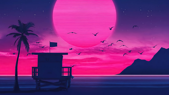 Wallpaper of Artistic, Retro Wave, Unicityart background & HD image